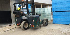Cargomatic livraison panneaux en verre