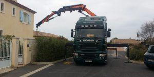Cargomatic transport grue lames terrasses
