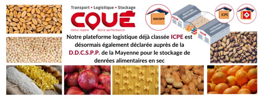 La plateforme logistique Transports Coué classee DDCSPP de la Mayenne