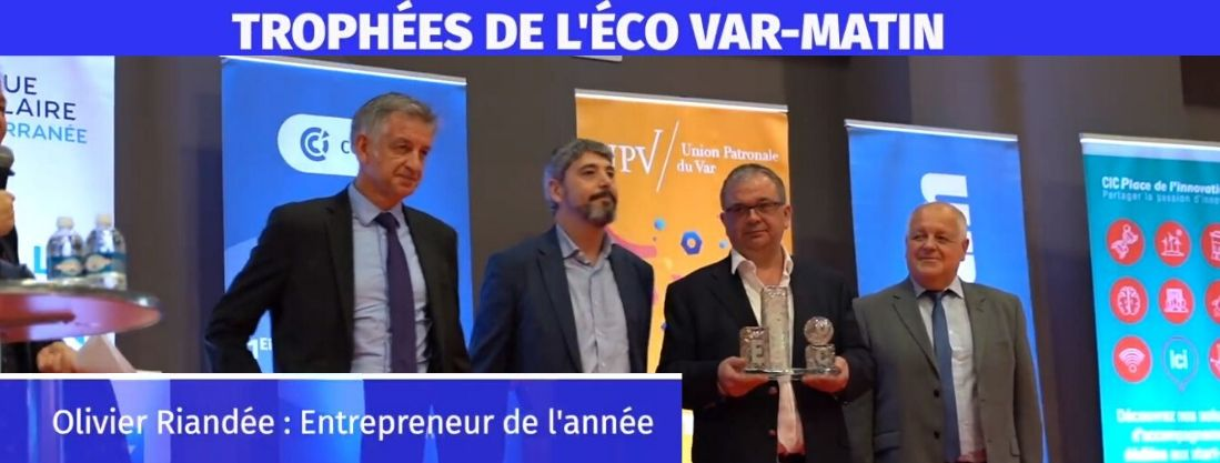 Olivier Riandee Top Trophée de l'entrepreneur de l'année 2019
